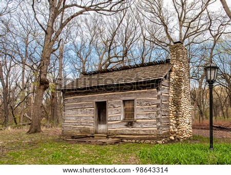 Log cabin the woods
