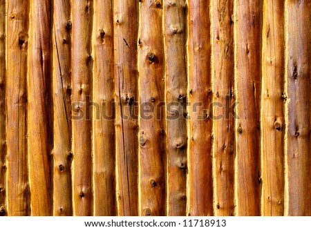 Log cabin wall - background