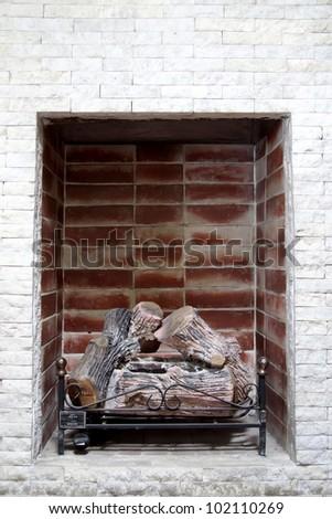 log home with refractory bricks