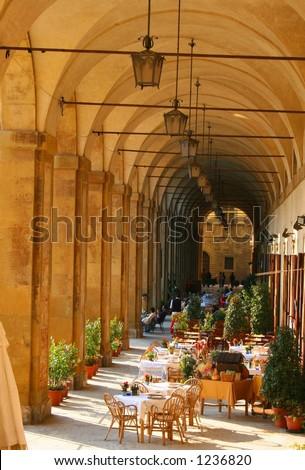 loggia in arezzo - stock photo