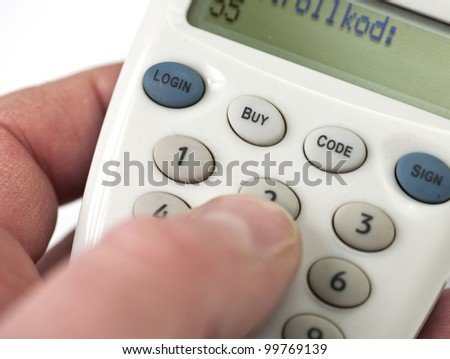 logging in to an internet bank through an electronic safety device