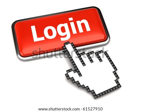 Login button and hand cursor