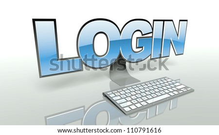 Login concept, access computer and network