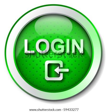 LOGIN icon - stock photo
