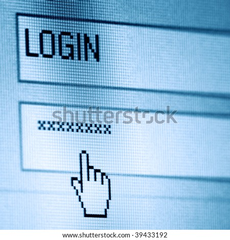 login password - stock photo