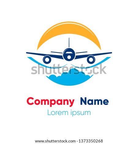 Logo design template for abstract airlines, airplane tickets, travel agencies. illustration