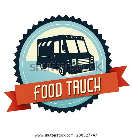 Logo Of Food Truck The Have A Retro Look