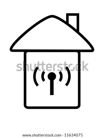 logo of wireless with house