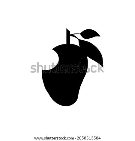 logo template design mango black bitten