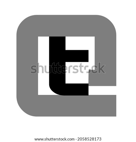 logo template symbol letter into at symbol