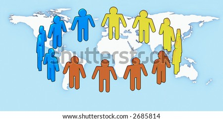 Logo Unity people over earth background.