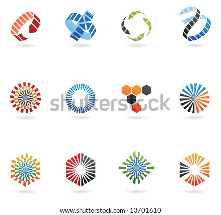 Logos to go with your company name (set of 12)
