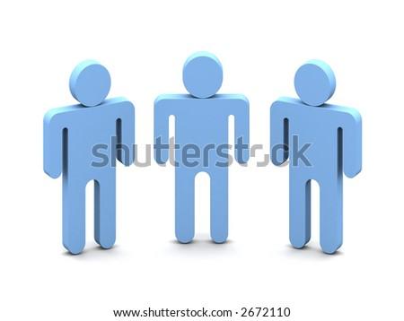 Logotype -Three Mens over white background