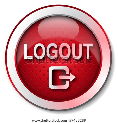 stock photo : LOGOUT icon