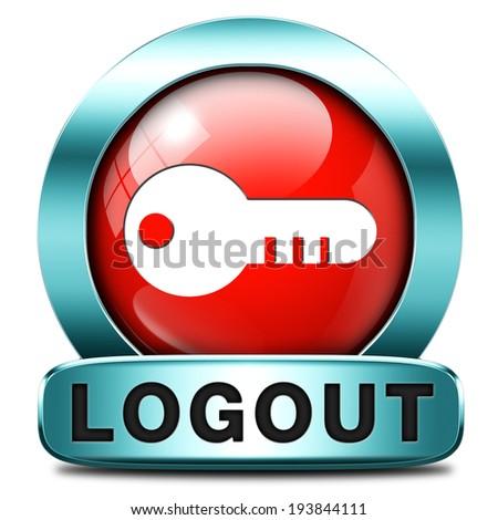 Logout Button Logo Logout Button or Banner