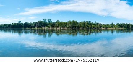 Loire river in Loir-et-Cher Department of the Loire Valley, France, Europe, Unesco World Heritage Site Stockfoto ©
