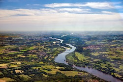 Loire river valley in Nantes city region of France