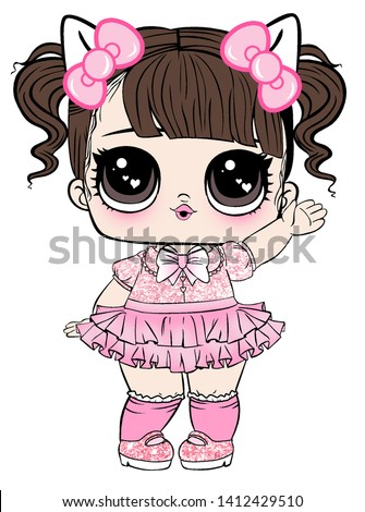 Lol Doll Design for Baby T-shirt Stock photo ©