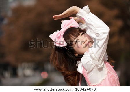 lolita japanese cosplay portrait
