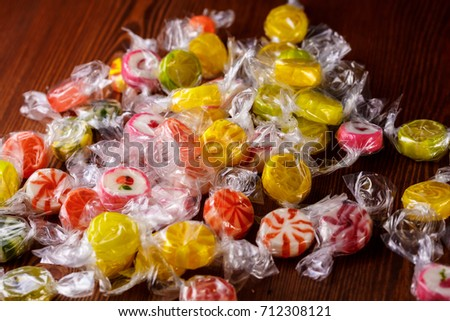 lollipop, candy, sweetmeat, barley sugar, goody, nicy, acid drop Stockfoto ©