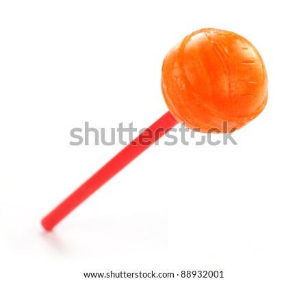 Lollipop over white background