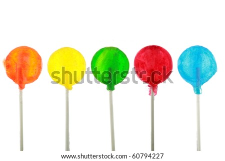 lollypops isolated on white