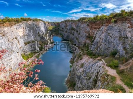 Lom velka Amerika / a large quarry of America Stok fotoğraf ©