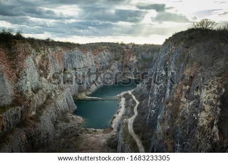 Lom velka amerika, Great america quarry near Prague, Czech Republic. Stok fotoğraf ©