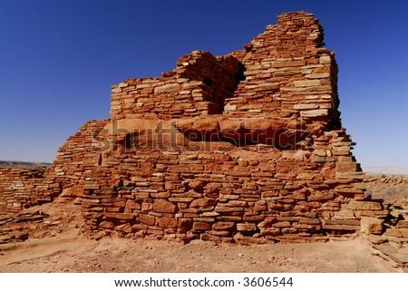 Lomaki Indian Ruins - stock photo