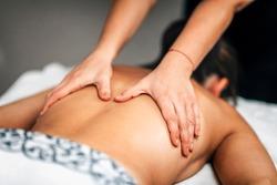 Lomi Lomi Hawaiian back massage at a wellness center