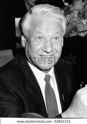 LONDON-APRIL 27: Boris Yeltsin, former President of Russia, attends a book signing session on April 27, 1990 in London. He died in 1999.