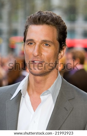 LONDON -  10 APRIL:  Matthew McConaughey at the European Premiere of 'Fool's Gold'. Held at the Vue cinema, Leicester Square, London, 10 April 2008.