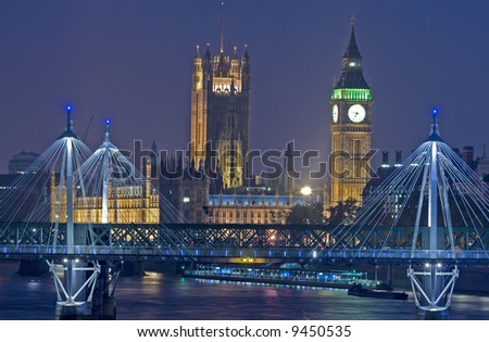 London at night
