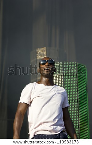 LONDON - AUG 19: Tinchey Strider and Wiley Performs at V Festival Chelmsford, AUG 19, 2012 in Chelmsford, UK