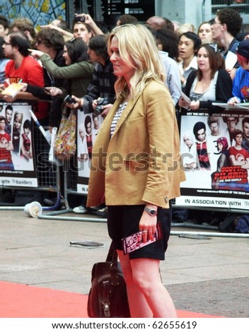 LONDON - AUGUST 18: Edith Bowman at Scott Pilgrim Vs The World Premiere August 18, 2010 in Leicester Square London, England