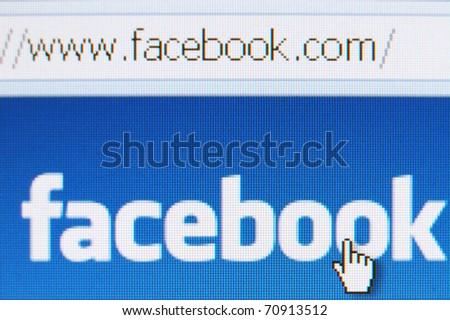 LONDON - AUGUST 16: Facebook accounts targeted in dislike application scam as the popular social media networking site warns users of the scam August 16, 2010 in London, UK. - stock photo