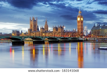 London - Big ben and houses of parliament, UK #183141068