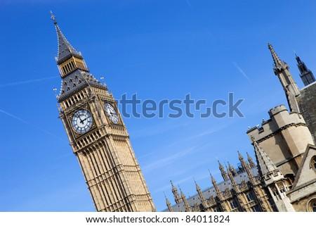 london, big ben clock at the westminster city