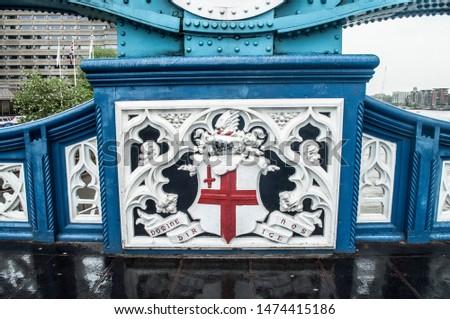 London Bridge shield flag famous spot #1474415186