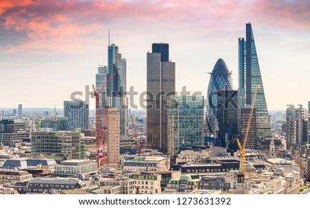 London. City financial district.