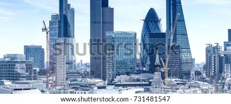 London City. Modern skyline of business district. #731481547