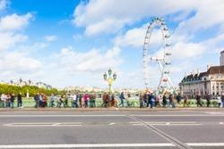 London Cityscape with Millennium Wheel