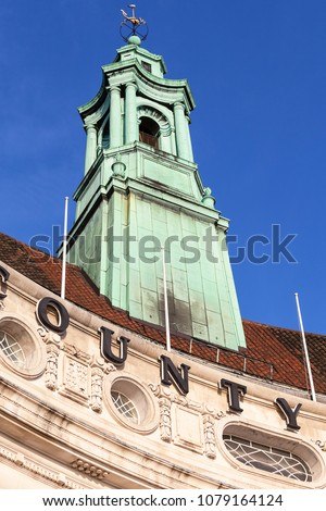 London County Hall, baroque revival architecture, near Westminster Bridge, tower of top, London, United Kingdom