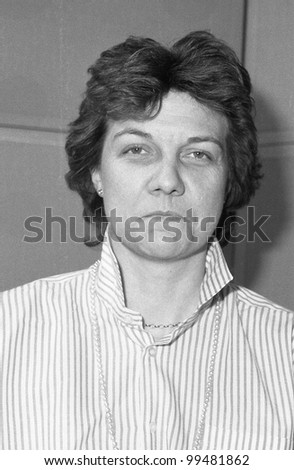 LONDON - DECEMBER 12: Jane Emmerson, Conservative party Parliamentary candidate for Bethnal Green and Bow, attends a photo call on December 12, 1990 in London, England.