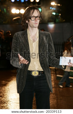 LONDON - DECEMBER 6: Singer Jarvis Cocker of the band Pulp attends the red carpet premiere of Harry Potter  December 6, 2005 in London, England.