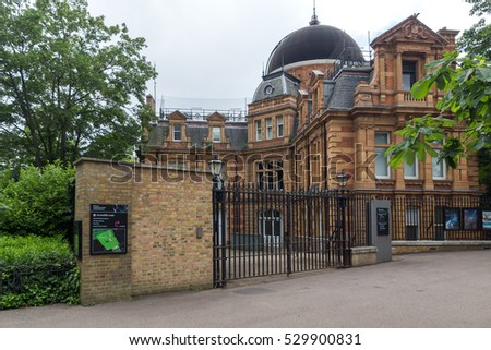 LONDON, ENGLAND - JUNE 17 2016: Royal Observatory in Greenwich, London, England, Great Britain  #529900831