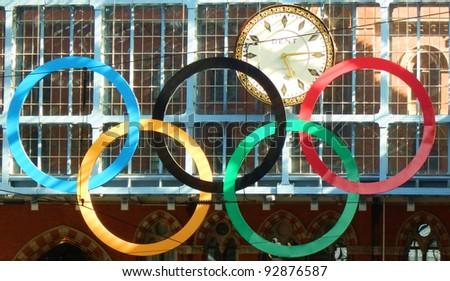 схема для вышивки крестом олимпийские кольца