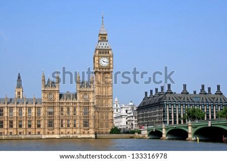 London, England, Parliament Building, Big Ben