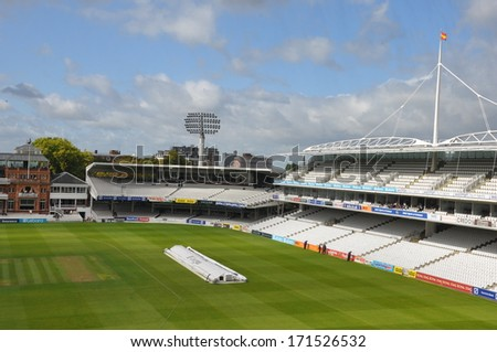 "LONDON, ENGLAND - SEPTEMBER 5: Lord's Cricket Ground in London, England, as seen on September 5, 2011. It is referred to as the ""home of cricket"" and is home to the world's oldest sporting museum."