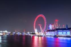 London Eye in the night